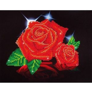 Diamond Embroidery Facet Art Kit- Red Rose Sparkle